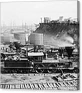 Union Locomotive, C1864 Canvas Print
