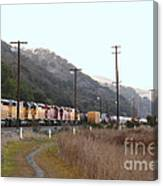 Union Pacific Locomotive Trains . 7d10558 Canvas Print
