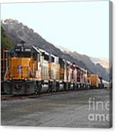 Union Pacific Locomotive Trains . 7d10561 Canvas Print