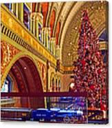 Union Station Christmas Canvas Print