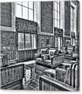 Union Station L.a. Seats 2 Canvas Print