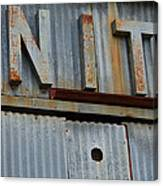 Unite Weathered Sign Canvas Print