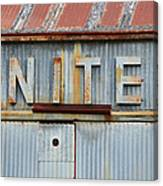 United Rusted Metal Sign Canvas Print