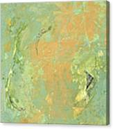 Untitled Abstract - Caramel Teal Canvas Print