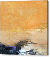 Untitled Abstract - Amber Peach  With Violet Canvas Print
