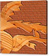 Up Against A Brick Wall Canvas Print