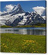 Up In The Bernese Alps Canvas Print