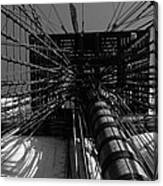 Up To The Crow's Nest - Monochrome Canvas Print