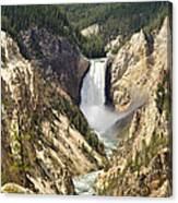 Upper Falls Yellowstone Canvas Print