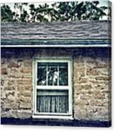 Upstairs Window In Stone House Canvas Print