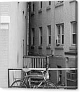 Urban Convergence Black And White Canvas Print