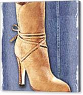 Urban Cowgirl Suede Boots Canvas Print
