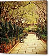 Urban Forest Primeval - Central Park Conservatory Garden In The Spring Canvas Print