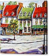 Urban Montreal Street By Prankearts Canvas Print