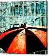 Urban Umbrella Canvas Print