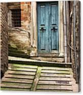 Urbino Door And Stairs Canvas Print