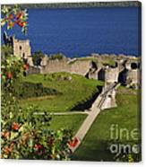 Urquhart Castle On Loch Ness Canvas Print