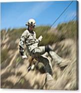 U.s. Air Force Airman Practices Canvas Print