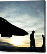 U.s. Air Force Airmen Prepare Canvas Print
