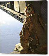 U.s. Air Force Commander Sits Harnessed Canvas Print