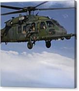 U.s. Air Force Hh-60 Pave Hawks Conduct Canvas Print