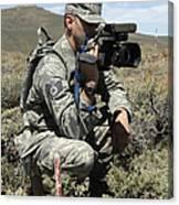 U.s. Air Force Sergeant Shoots Video Canvas Print