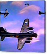 Us Army Air Corps B17g Flying Fortress Canvas Print