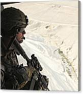 U.s. Army Captain Looks Out The Door Canvas Print