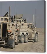 U.s. Army Cougar Mrap Vehicles Canvas Print