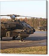 U.s. Army Helicopters At The Letzlingen Canvas Print