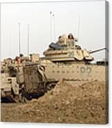 U.s. Army M2 Bradley Infantry Fighting Canvas Print