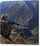 U.s. Army Sniper Provides Security Canvas Print