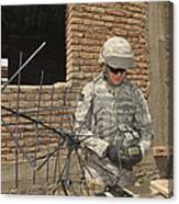 U.s. Army Soldier Configures Canvas Print