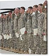 U.s. Army Soldiers And Recipients Canvas Print