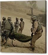 U.s. Army Soldiers Medically Evacuate Canvas Print