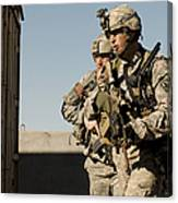 U.s. Army Soldiers Search A Site Canvas Print