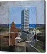 Us Bank Lake Michigan Layered Canvas Print