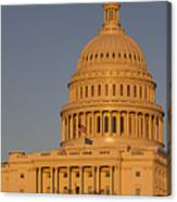 Us Capital Dome Sunset Glow Canvas Print