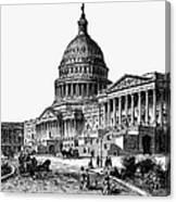 U.s. Capitol, 1884 Canvas Print