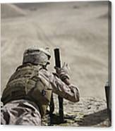 U.s. Marine Clears A Pk General-purpose Canvas Print