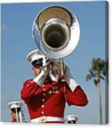 U.s. Marine Corps Drum And Bugle Corps Canvas Print
