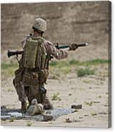 U.s. Marine Prepares A Fragmentation Canvas Print
