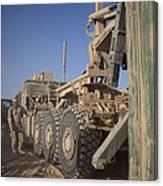 U.s. Marine Uses A Logistics Vehicle Canvas Print