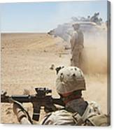 U.s. Marines Fire Several Canvas Print