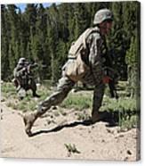 U.s. Marines Training At The Mountain Canvas Print