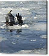 U.s. Navy Diver Signals He Is Okay Canvas Print