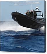 U.s. Navy Sailors Operate A Nine-meter Canvas Print