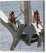 U.s. Navy Servicemen Apply A Coat Canvas Print