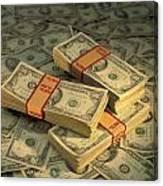 U.s. Paper Money Canvas Print