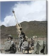 U.s. Soldiers Prepare To Fire Canvas Print